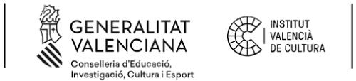 Logo Generalitat Valenciana Institut Valencià de Cultura